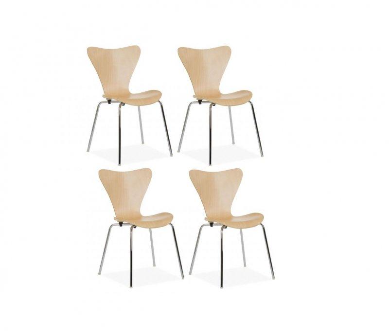 Vlinder Bureaustoel Arne Jacobsen.Fritz Hansen Vlinder Stoel 4 St Tweedehands Kopen Bij