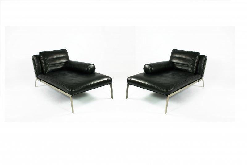 Chaise Longue Leer : Flexform happy chaise longue