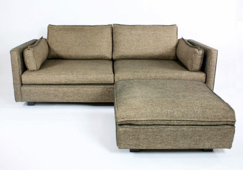 machalke crack sofa met pouf. Black Bedroom Furniture Sets. Home Design Ideas