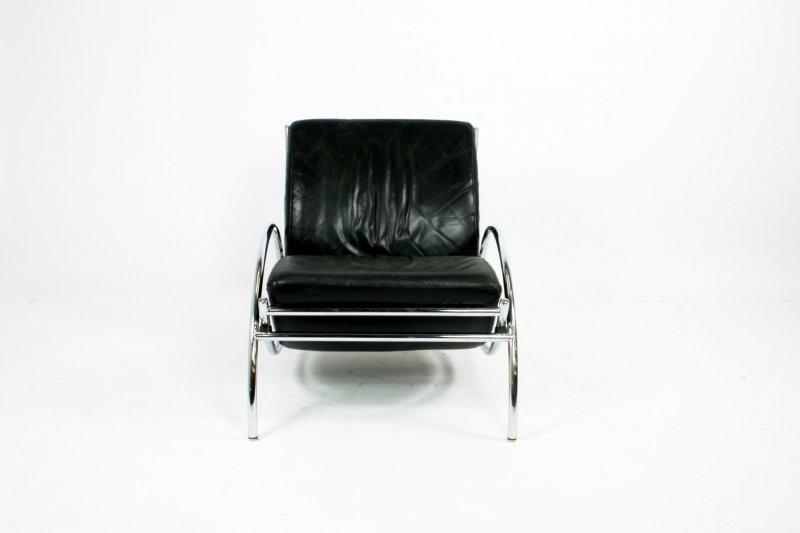 Zwart leren fauteuil uniek chaise longue cherry zwart u huis